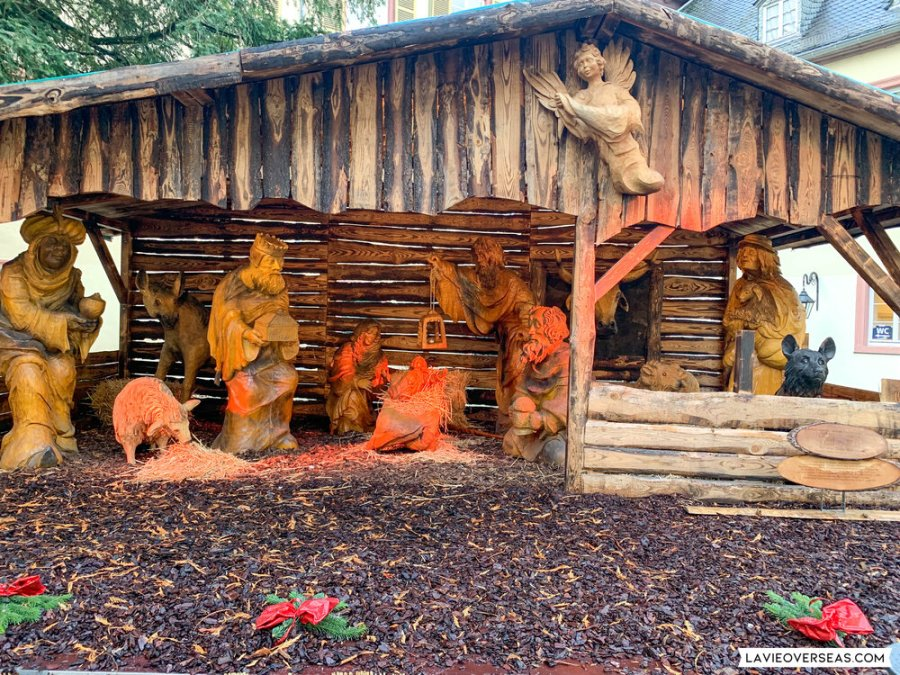Nativity scene at Bad Homburg Christmas market