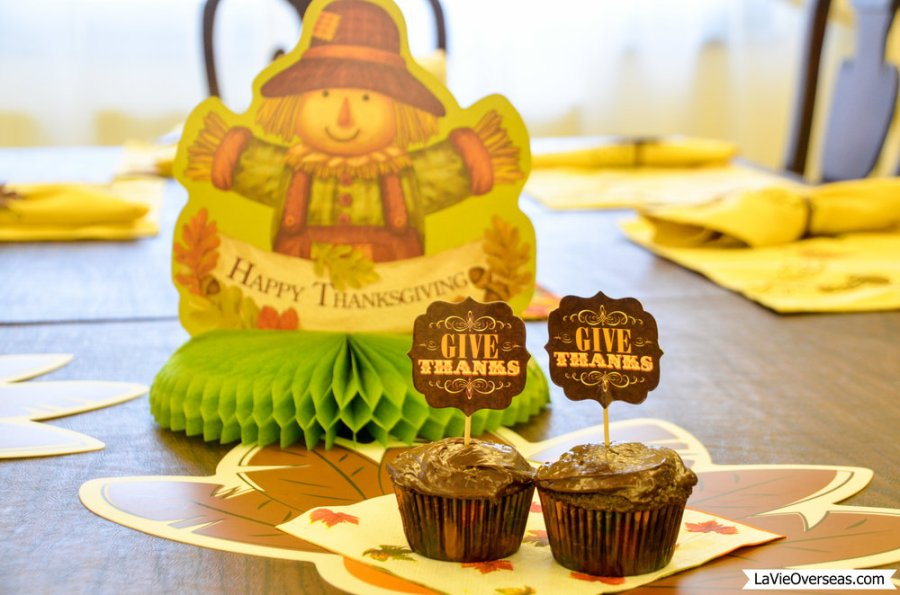 happy thanksgiving, thanksgiving cupcakes, give thanks, be thankful