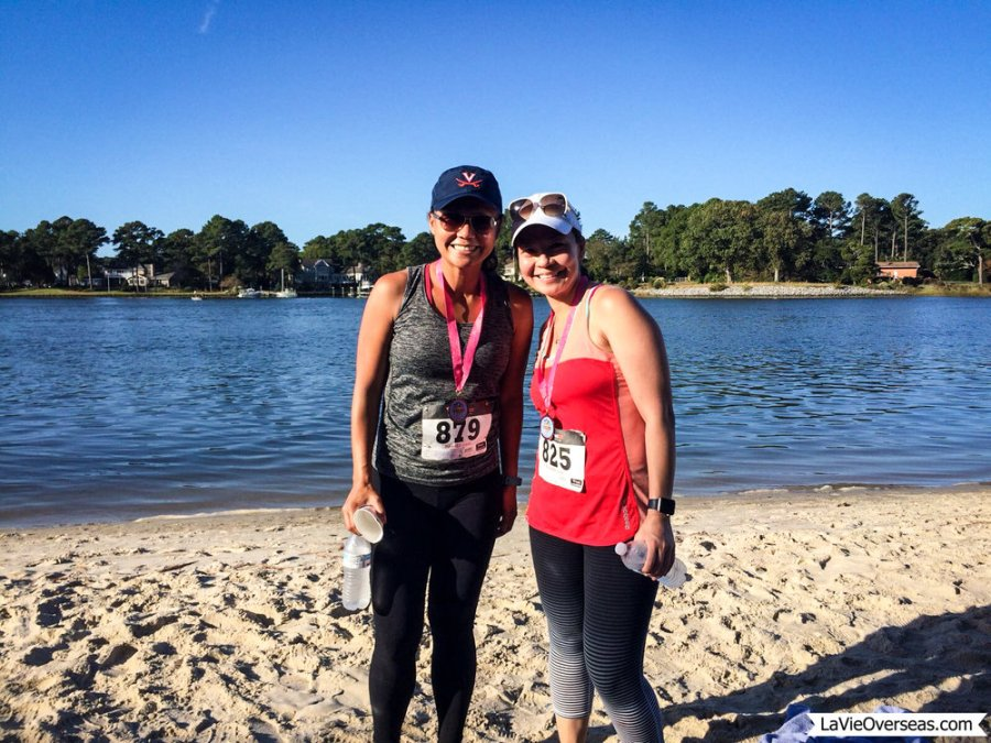 home leave, virginia, virginia beach, first landing state park, running, surf for the cure 5k